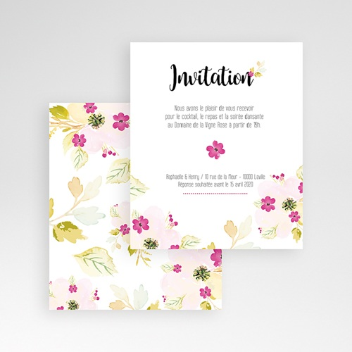 Carte d'invitation Romance Watercolor gratuit