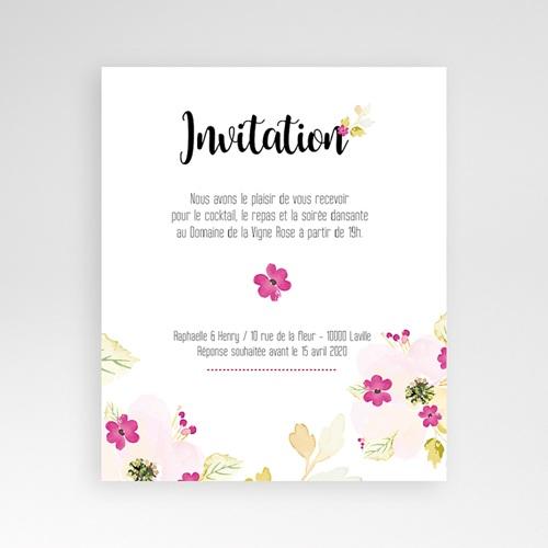 Carte d'invitation Romance Watercolor