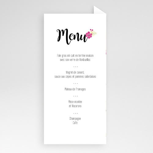Menu de Mariage - Romance Watercolor 51398 thumb