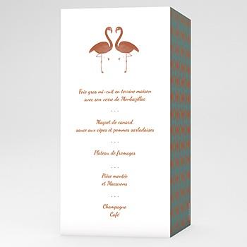 Menu mariage flamant love pas cher