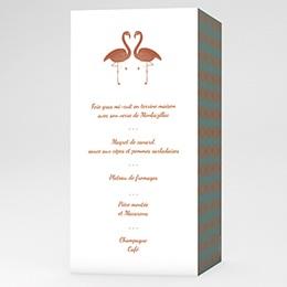 Menu Mariage Flamant Love