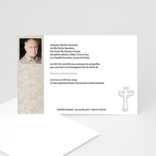 Carte Remerciement Décès Chrétien Majestueux, il s'en va vers la Vie