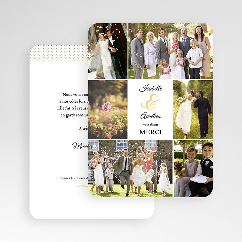 Carte Remerciements Mariage De Bon Ton gratuit
