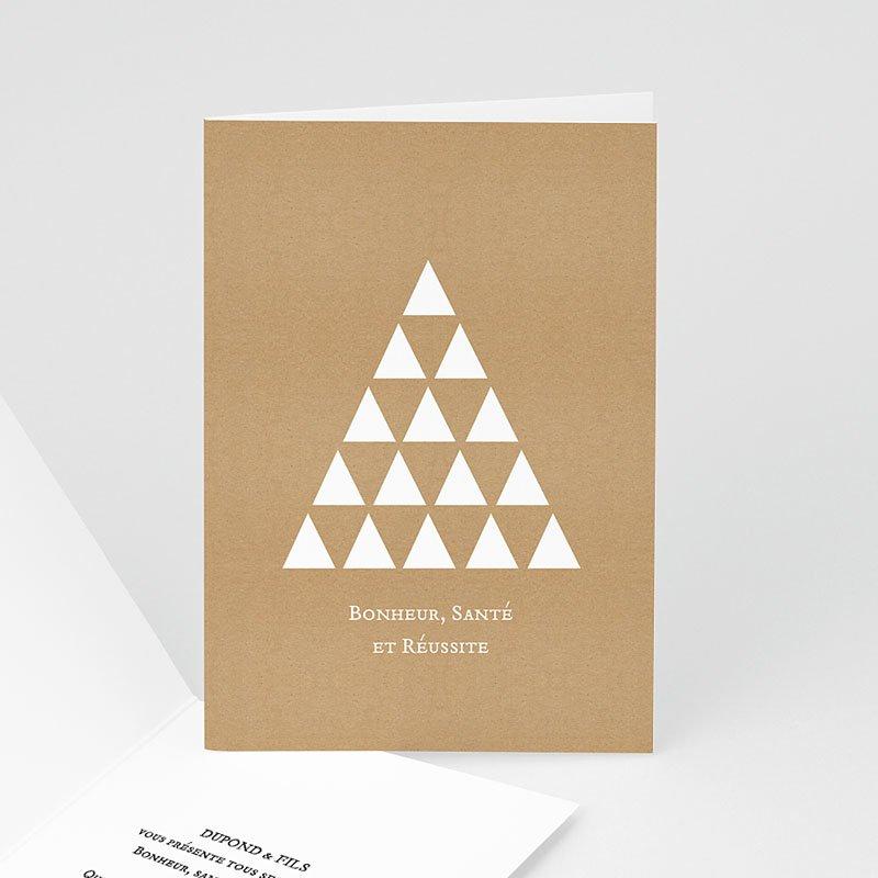 Carte de Voeux Entreprise Triangles