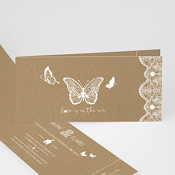 Faire-Part Mariage Champêtre Papillon Nature