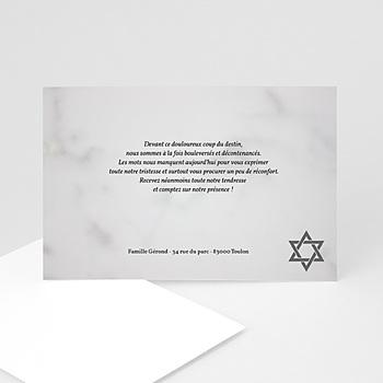 Carte remerciement décès juif matzevah - 2 personnalisable