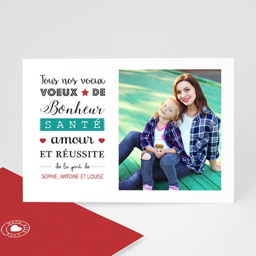 Carte Bonne Année Meilleurs Voeux Letterpress