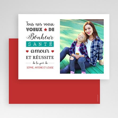 Carte Bonne Année Meilleurs Voeux Letterpress gratuit