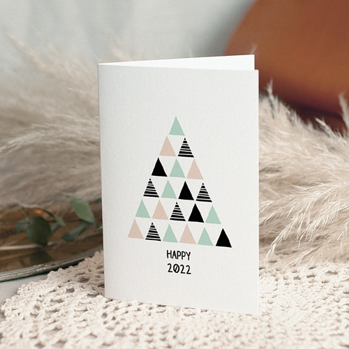 Cartes de Voeux Professionnels - Sapin Moderne 51636