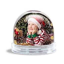 Boule à neige Noël Neige d'or