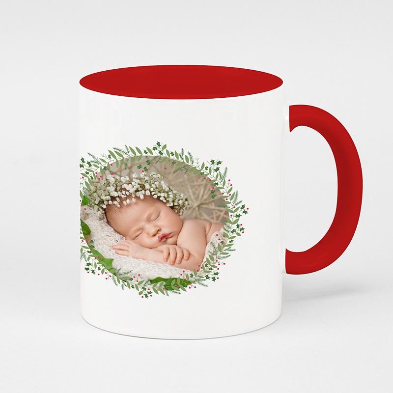 Mug Personnalisé de Couleur Noel en fête