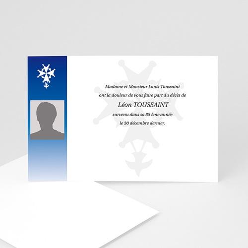 Remerciements Décès Chrétien - Dévotion bleue 5169
