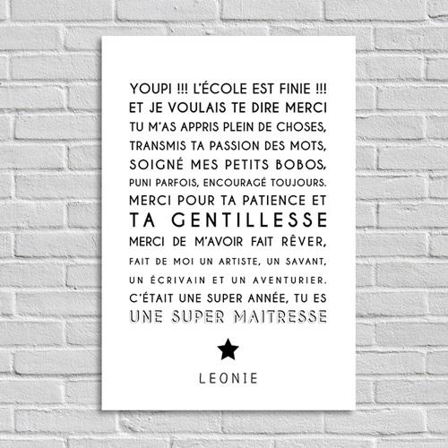 Poster Photo Souvenir Instit