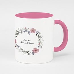 Mug de couleur Rose & Pétales