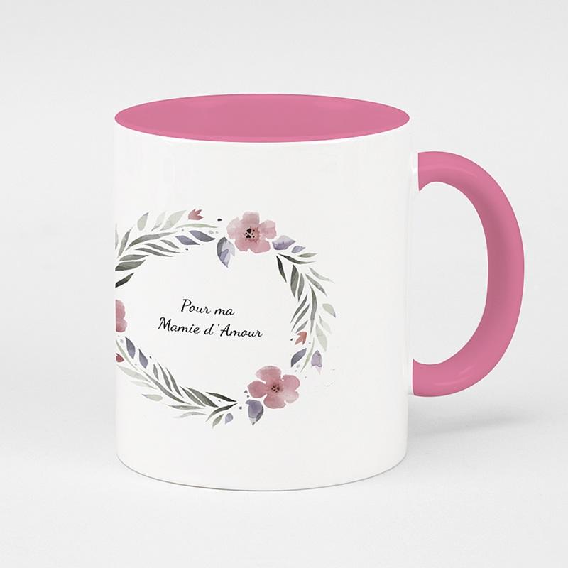 Mug Personnalisé Photo Rose & Pétales