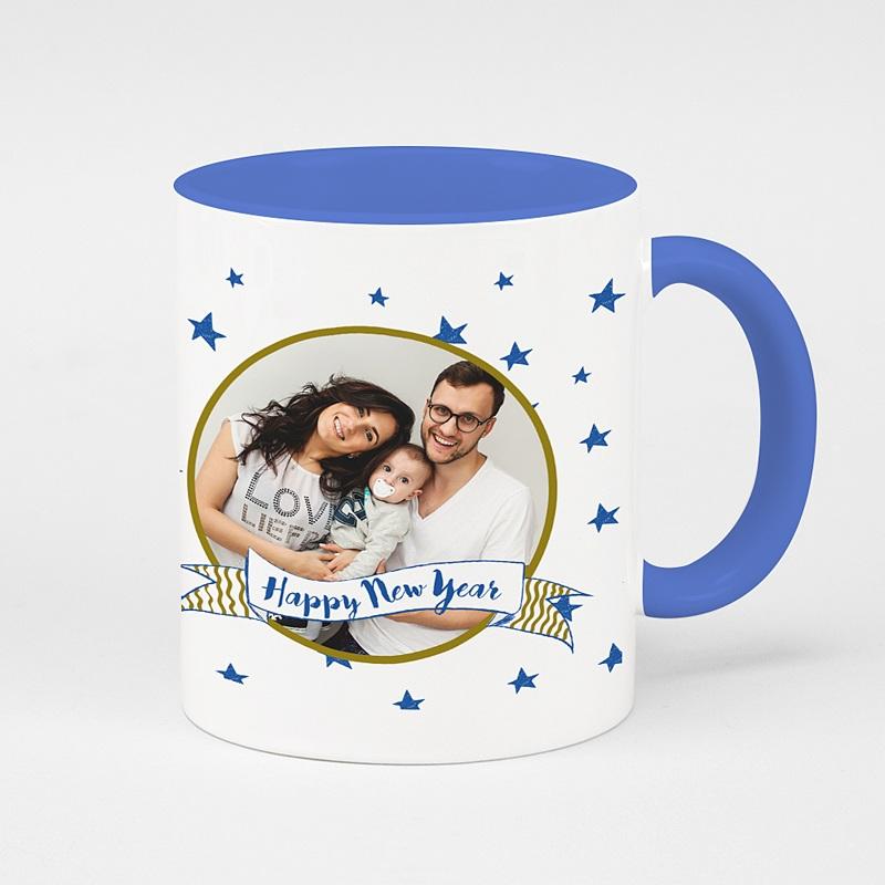 Mug de couleur Light Blue Stars