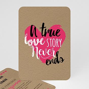Faire-Part Mariage - Love story - 0