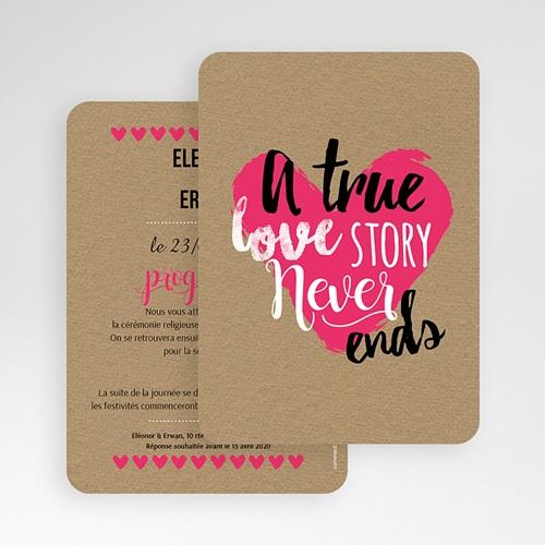 Faire-Part Mariage Personnalisés - Love story 51720 preview