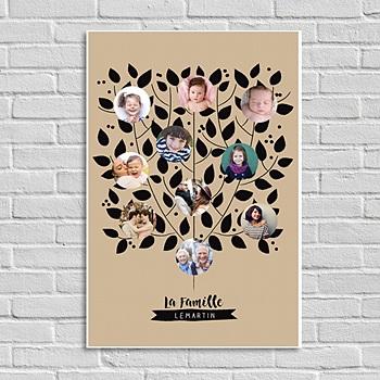 Poster personnalisé - Arbre de la famille - 0