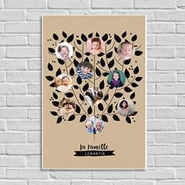 Poster Noël Arbre de la famille