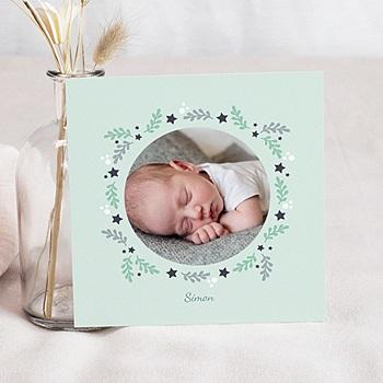 Création faire-part naissance garçon unicef couronne étoilée