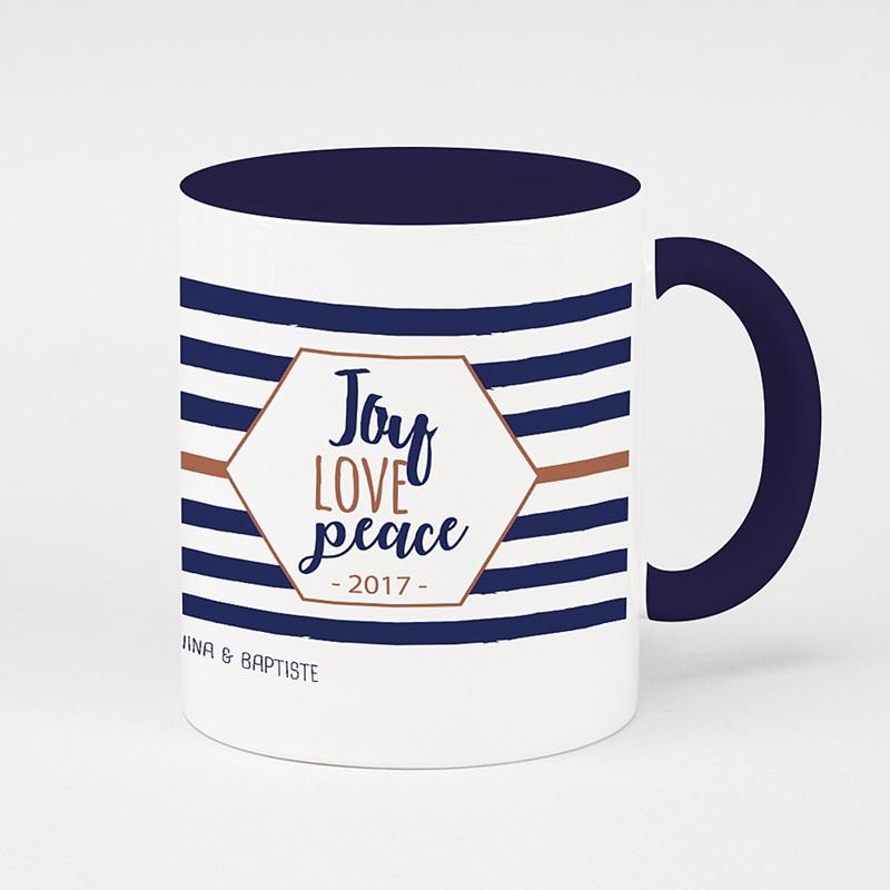 Mug Personnalisé de Couleur Joy Love Peace