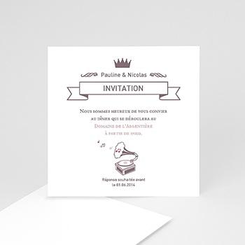 Carte Invitation Mariage - Douce Musique - 0