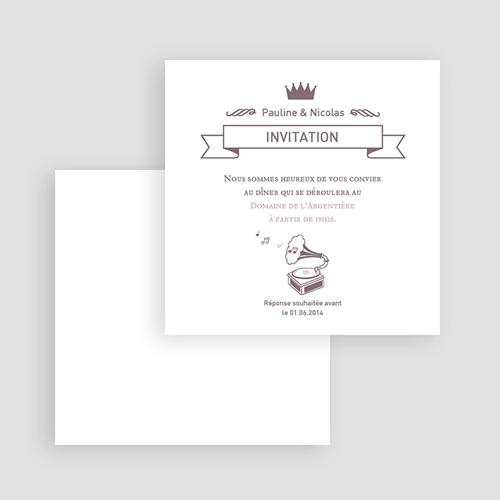 Carte Invitation Mariage - Douce Musique 51774 preview