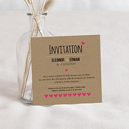 Carte invitation mariage Love story