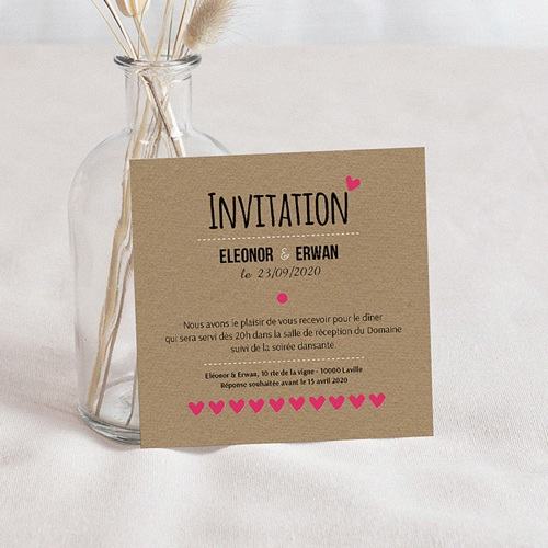 Carte Invitation Mariage - Love story 51805 thumb