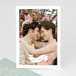 Faire-part mariage photo Ange Cupidon