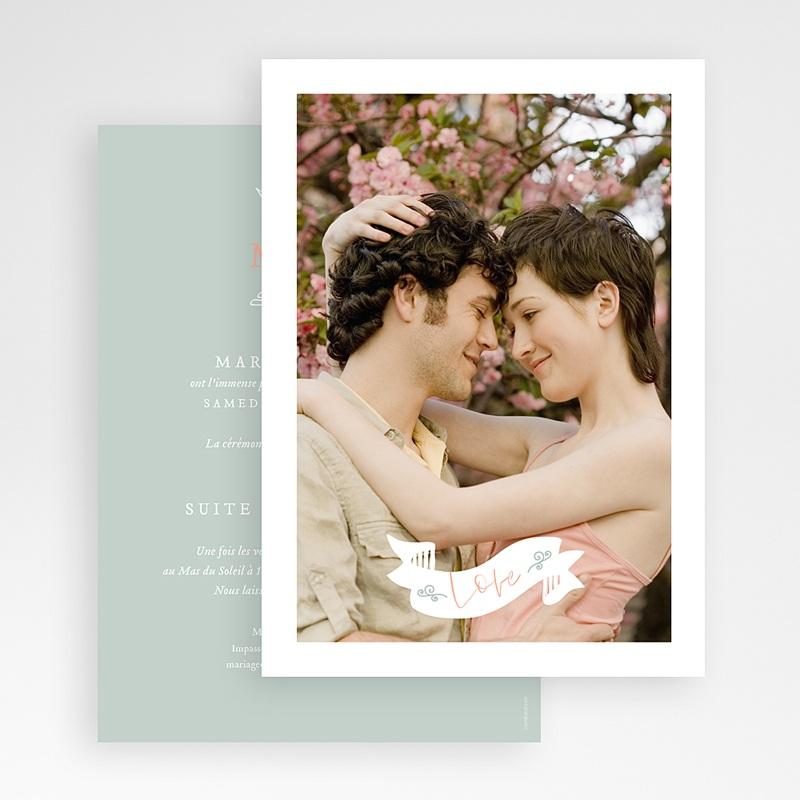 Faire-Part Mariage Photo Ange Cupidon gratuit