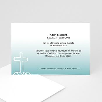 Carte de remerciement décês chrétien Voeux d'immortalité