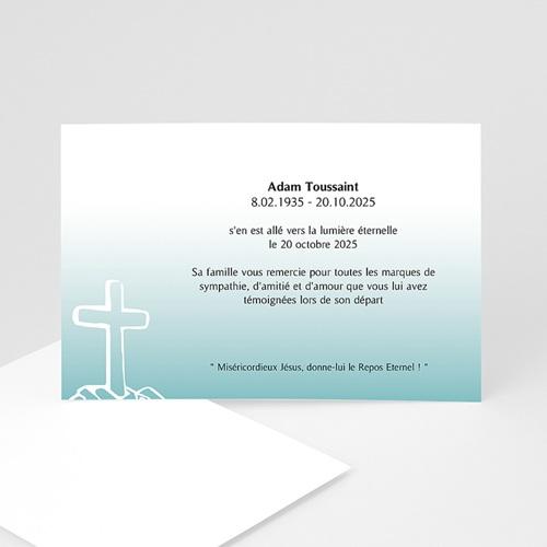 Remerciements Décès Chrétien - Voeux d'immortalité  5185
