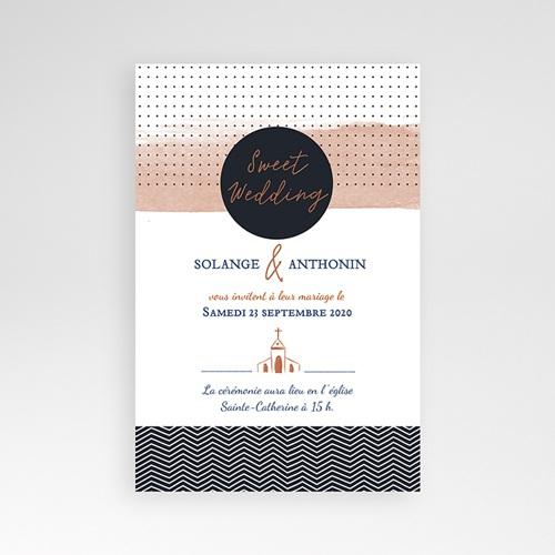 Faire Part Mariage Pochette rectangulaire - Sweet Wedding & Motifs 51900 preview