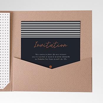 Carte d'invitation Sweet Wedding et Motifs