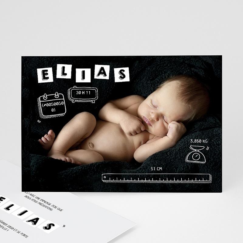 Faire-part naissance original Alphabet de bébé