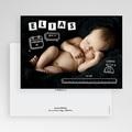 Faire-part naissance original Alphabet de bébé gratuit
