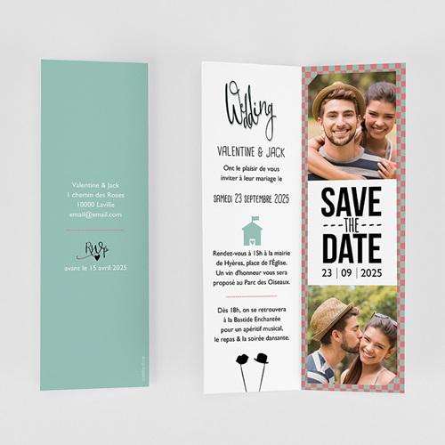 Faire-part mariage Wedding Day Rétro gratuit