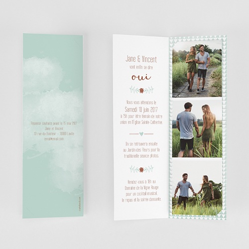 Faire-Part Mariage Personnalisés - Wedding Love Triangles 52013 preview