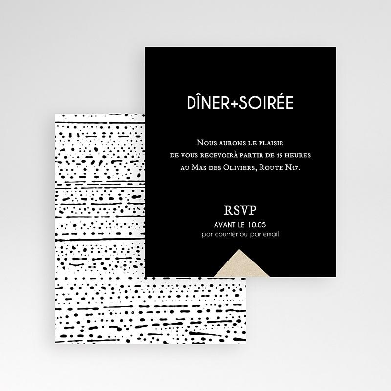 Carte d'invitation Tribal Modern gratuit