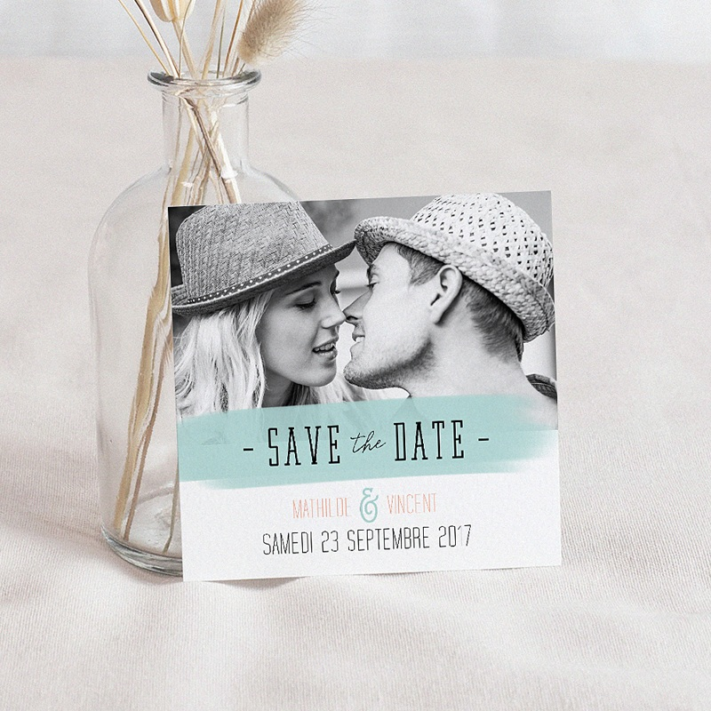 Save The Date Mariage Fleurs Motifs Fun