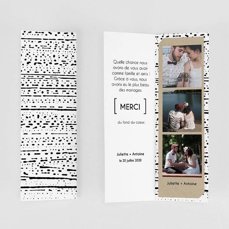 Carte Remerciements Mariage Tribal Modern gratuit