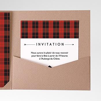 Carte d'invitation yuccie chic personnalisable