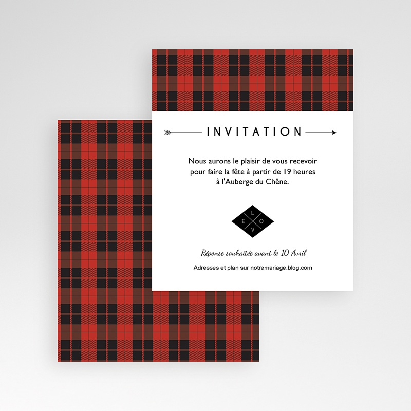 Carte d'invitation Yuccie Chic gratuit