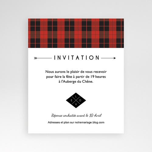 Carte d'invitation Yuccie Chic