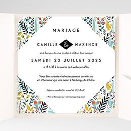 Faire-Part Mariage Pochette carré - Prairie sauvage - 1