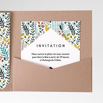 Carte d'invitation prairie sauvage personnalisé