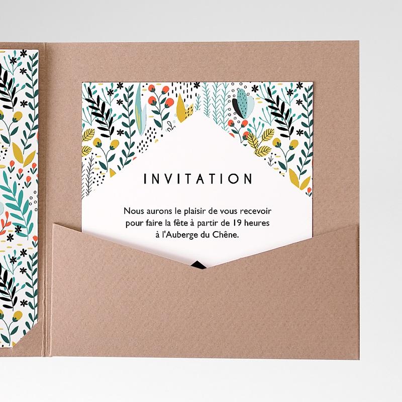 Carte d'invitation Prairie sauvage