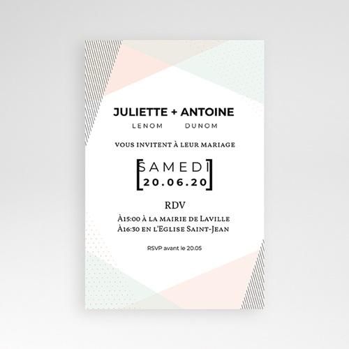 Faire Part Mariage Pochette rectangulaire - Style cubiste 52277 thumb